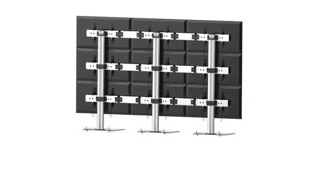 3x3 Video Wall Floor Stand As01346fp3